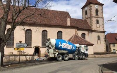Réfection de sol dans l'église Ste BLAISE de DAHLENHIEM